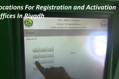 Locations For Registration and Activation Offices In Riyadh
